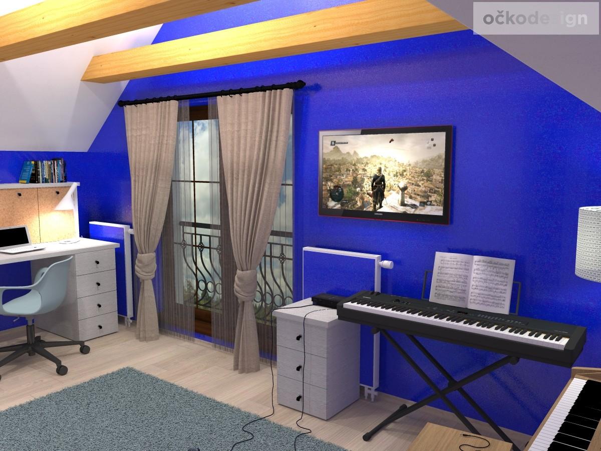 a,designový studenstký pokoj, jan navrhnout dětský, Petr Molek designer, designové interiéry, moderní dům