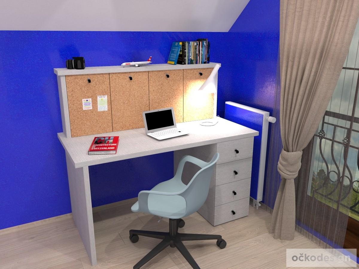 d,designový studenstký pokoj, jan navrhnout dětský, Petr Molek designer, designové interiéry, moderní dům