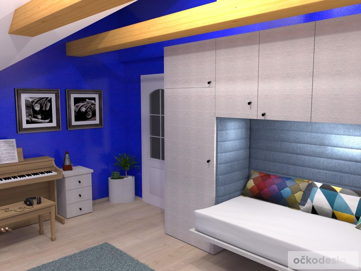 f,designový studenstký pokoj, jan navrhnout dětský, Petr Molek designer, designové interiéry, moderní dům