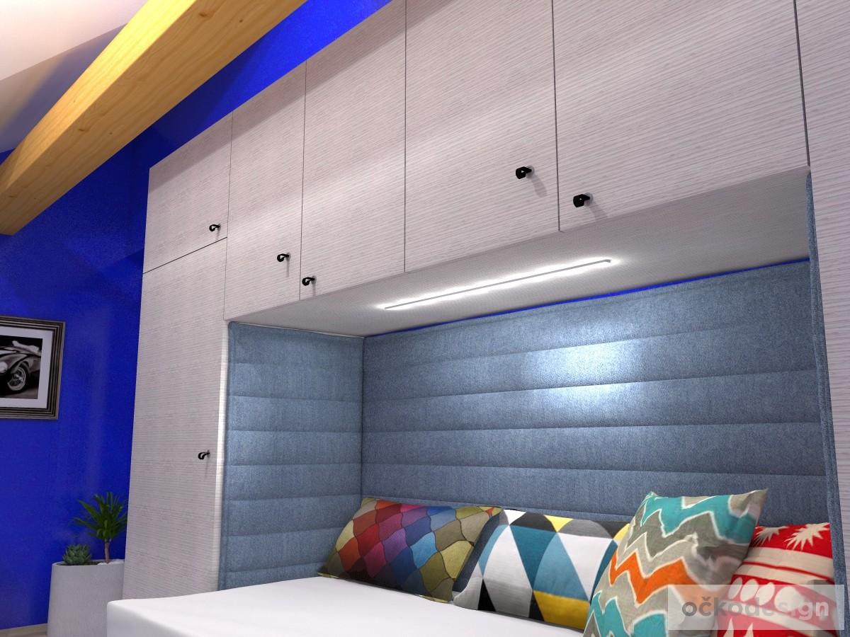g,designový studenstký pokoj, jan navrhnout dětský, Petr Molek designer, designové interiéry, moderní dům