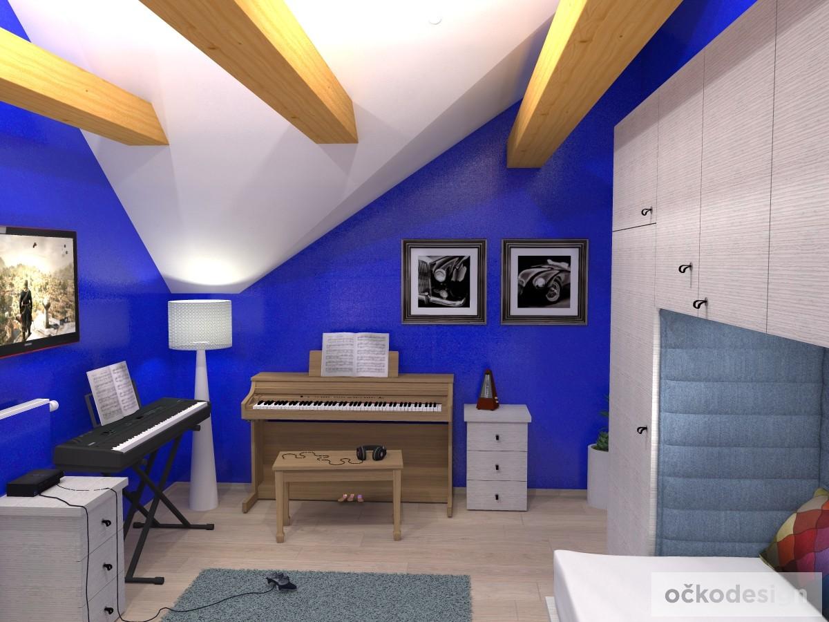 h,designový studenstký pokoj, jan navrhnout dětský, Petr Molek designer, designové interiéry, moderní dům