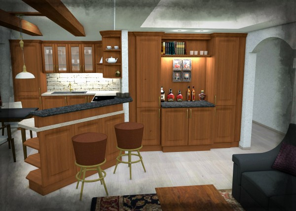 rustikální interiéry, očkodesign,petr molek, bytový designer, rustikální kuchyň