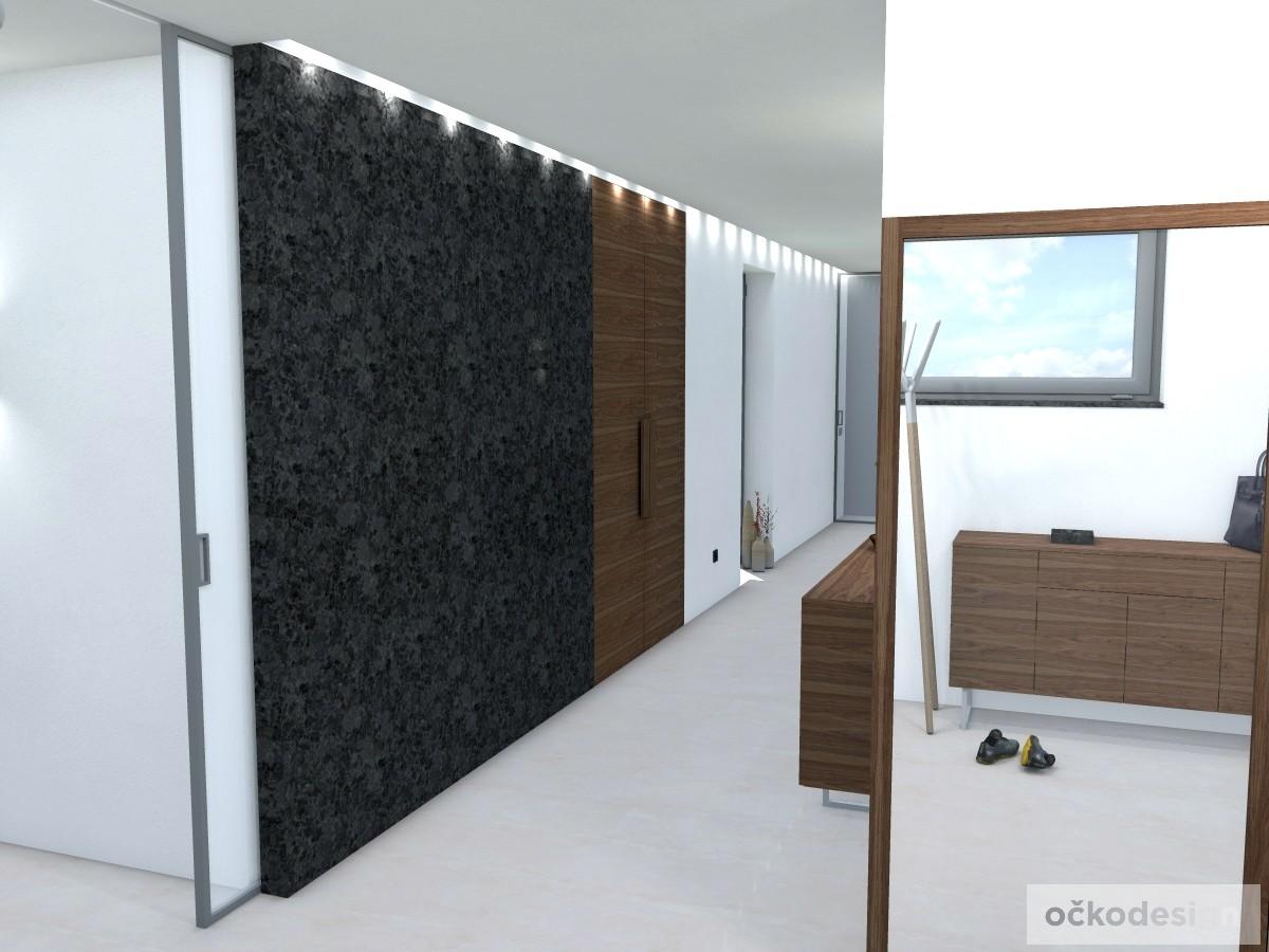 c,designová předsíň,moderní dům,3d návrhy interiérů,Petr Molek Designer Praha, návrhy rezidencí, moderní interiéry