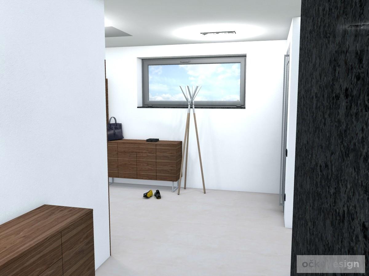 ch,designová předsíň,moderní dům,3d návrhy interiérů,Petr Molek Designer Praha, návrhy rezidencí, moderní interiéry
