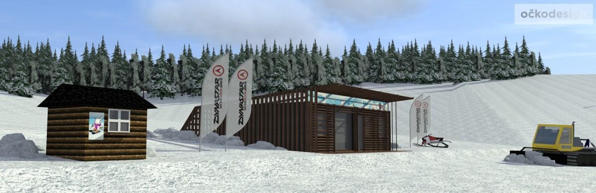 Ski půjčovna Kraličák,domy z kontejnerů,kontejnerový dům,shippig container house,Petr Molek designer