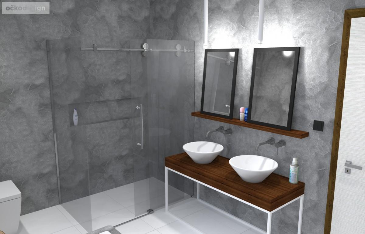 designová koupelna, minimalistická, moderní, návrhy koupelen, Petr Molek, očkodesign, návrhy interiérů