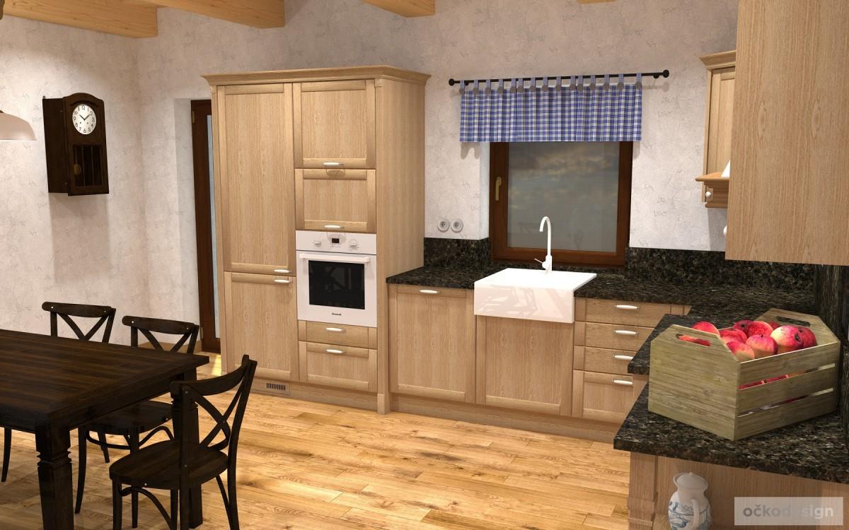 rustikální kuchyně,provensálský interiér, skandinávský styl,návrhy interiéru Petr Molek očkodesign