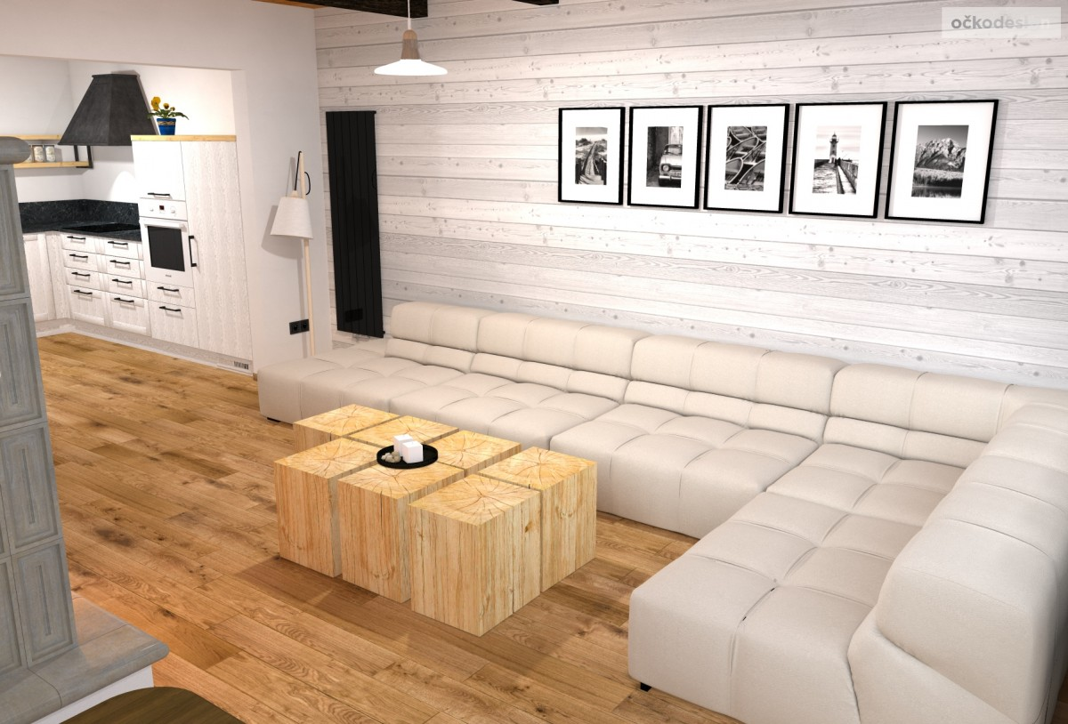 Rekonstrukce chaty na moderní interiér - Hynčice pod Sušinou