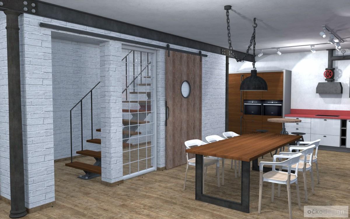 industriální interiér, v industriálním stylu, stylové interiéry petr molek ockodesign