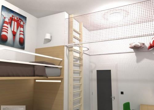 originální dětský pokoj, pro dvě děti, 3D návrhy interiérů, jak zařídit dětský, dětské pokoje, patrové postele