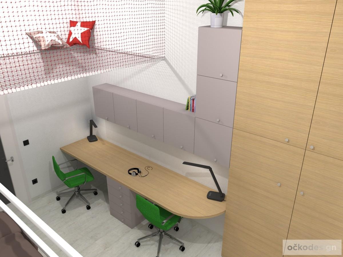 originální dětský pokoj, pro dvě děti, 3D návrhy interiérů, jak zařídit dětský, dětské pokoje, osvětlení interiéru