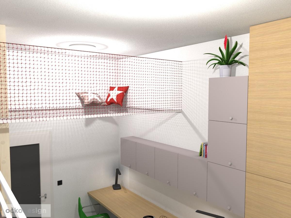 originální dětský pokoj, pro dvě děti, 3D návrhy interiérů, jak zařídit dětský, dětské pokoje, bunkr pro děti