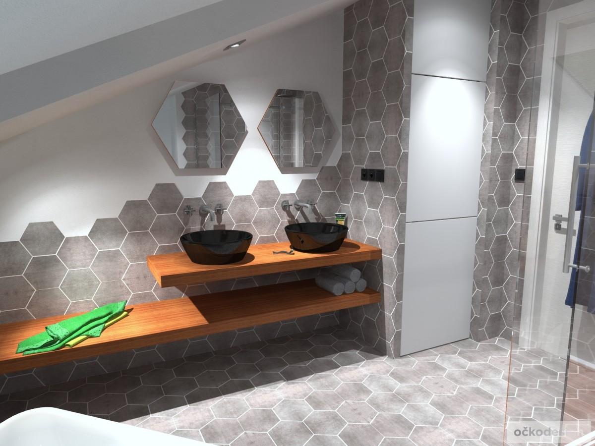 designové koupelny,moderní koupelna,rekonstrukce podkroví, bytový interiérový architekt Brno 4