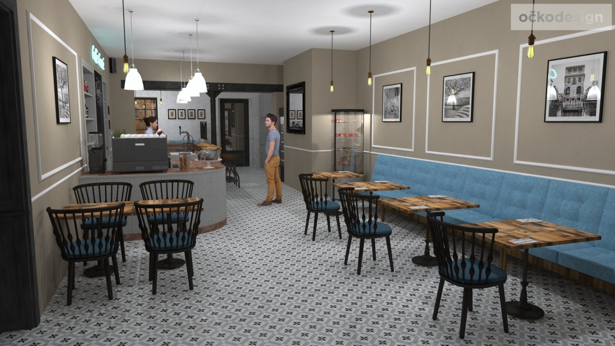 designové kavárny, Petr Molek designer, stylové bistro,provence interiéry, návrhy restaurací hotelů 01