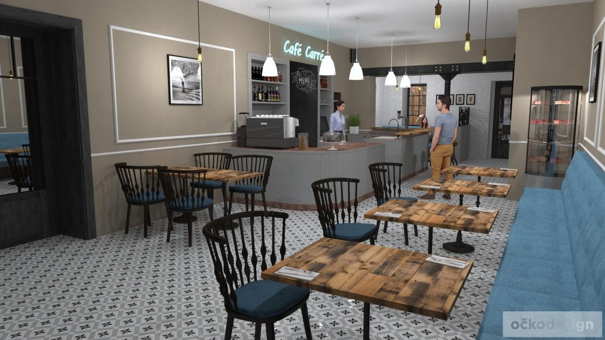designové kavárny, Petr Molek designer, stylové bistro,provence interiéry, návrhy restaurací hotelů 03