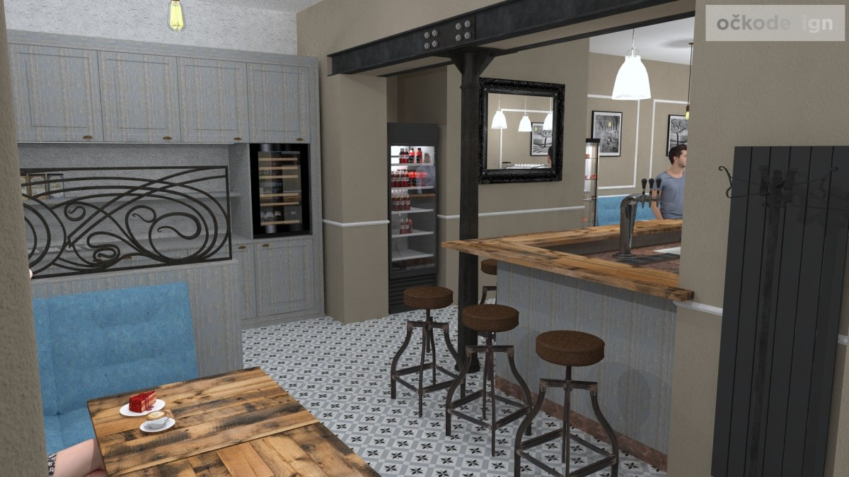 designové kavárny, Petr Molek designer, stylové bistro,provence interiéry, návrhy restaurací hotelů 21