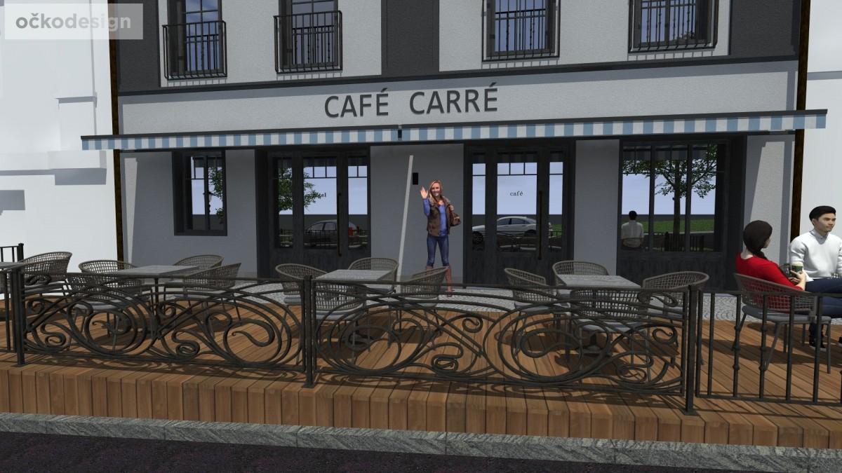 návrhy domů, stylové kavárny, Petr Molek očkodesign, černá fasáda I