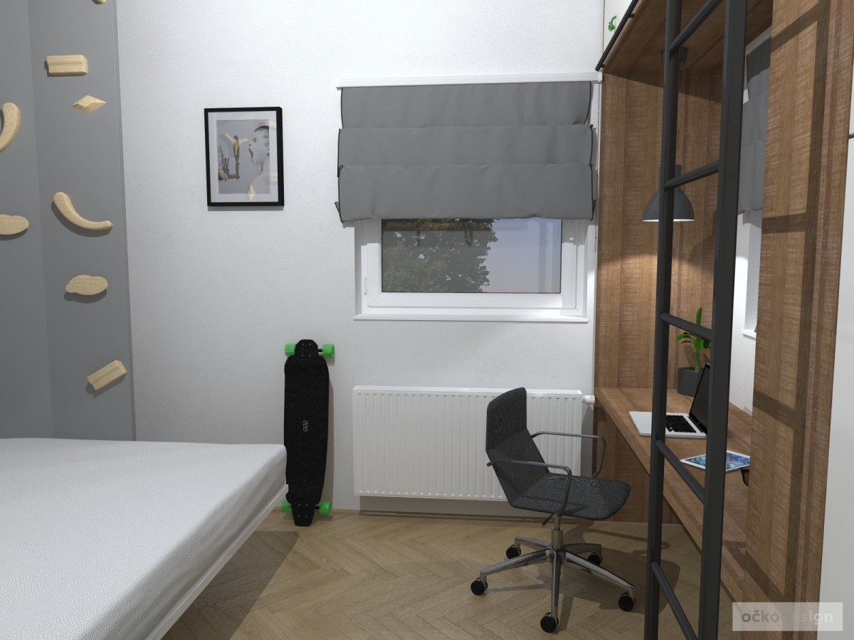 designové dětské pokoje, návrhy studentských pokojů, jak zařídit dětský pokoj, Petr Molek očkodesign