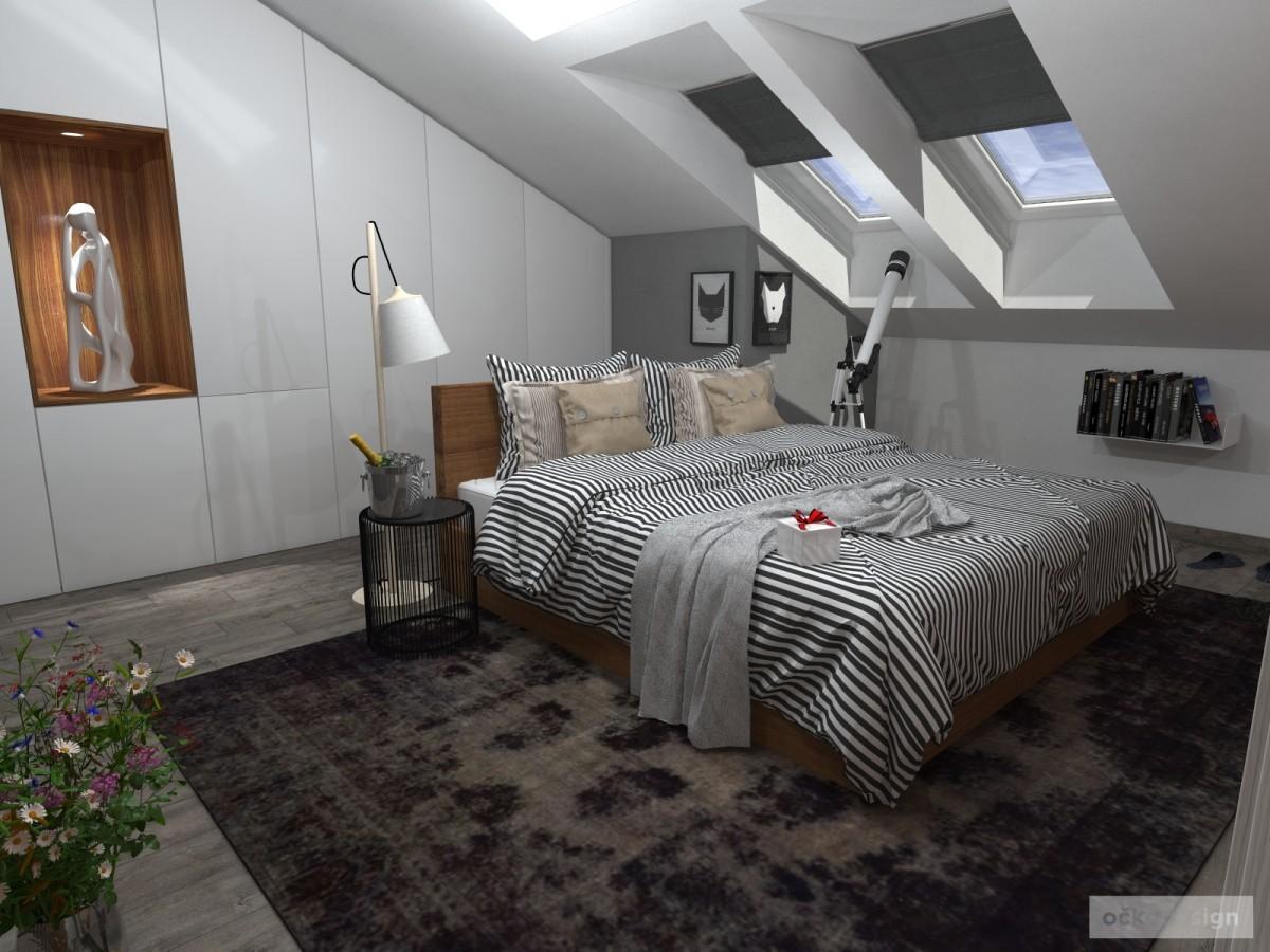 Luxusní ložnice,designová ložnice, design badroom,ložnice mezonet, loftové bydlení_00