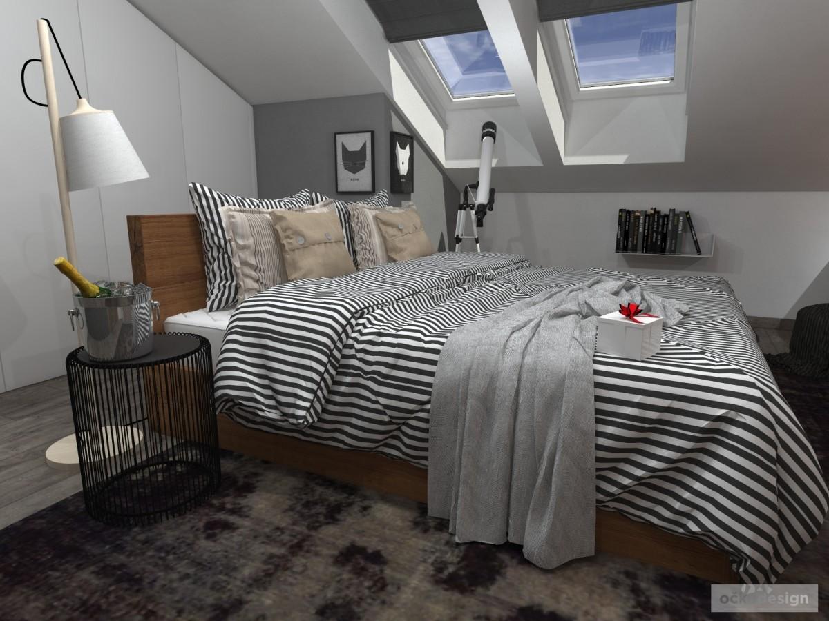 Luxusní ložnice,designová ložnice, design badroom,ložnice mezonet, loftové bydlení_02