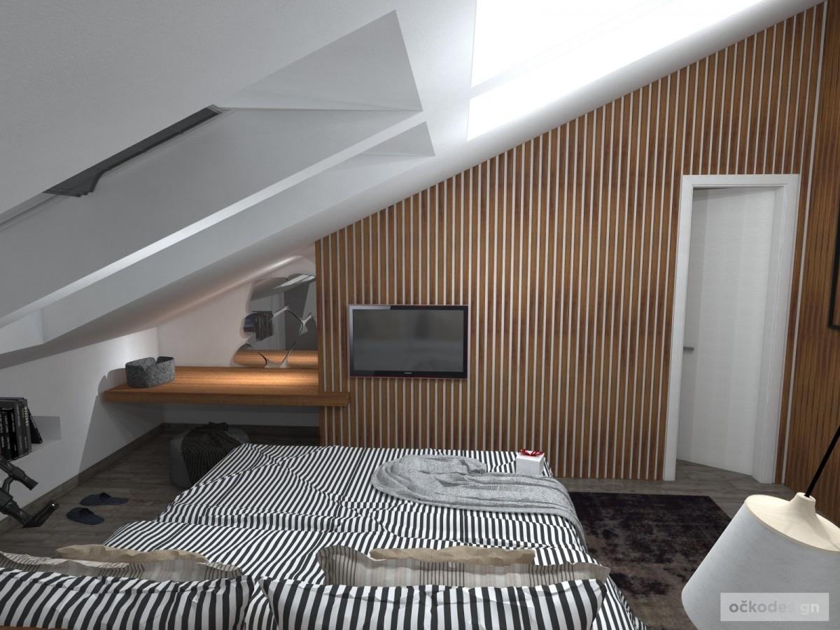 Luxusní ložnice,designová ložnice, design badroom,ložnice mezonet, loftové bydlení_07