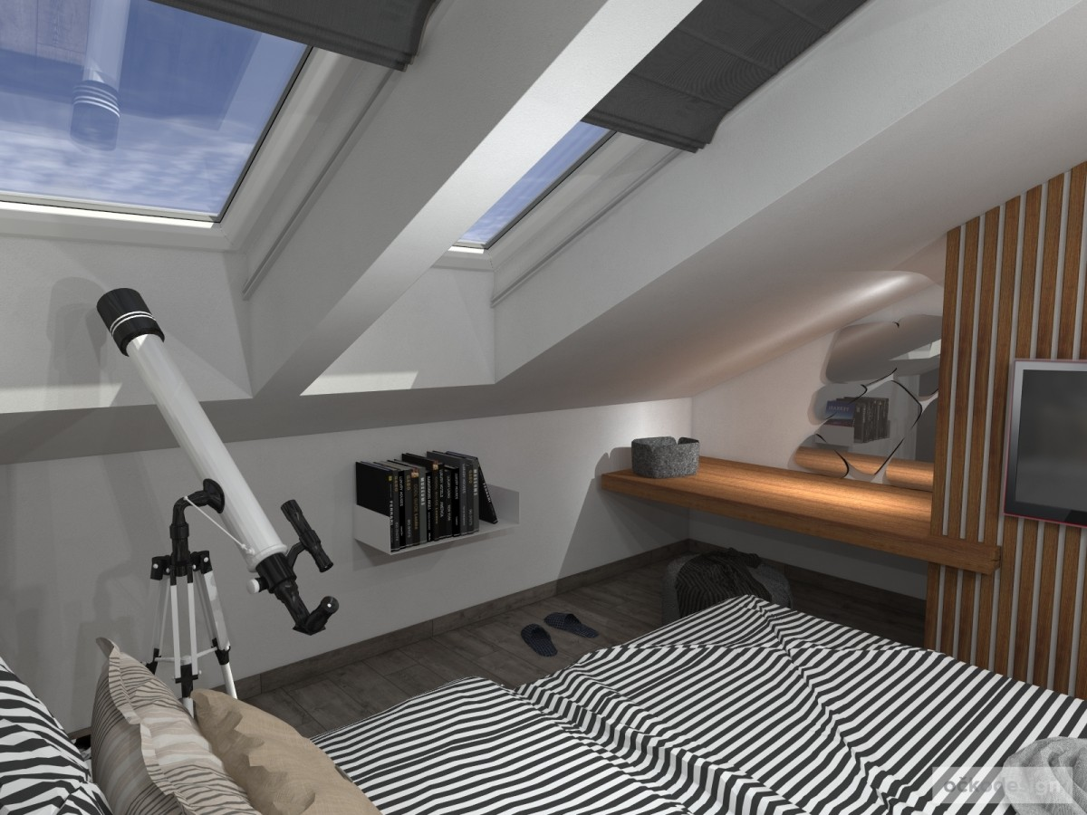 Luxusní ložnice,designová ložnice, design badroom,ložnice mezonet, loftové bydlení_08