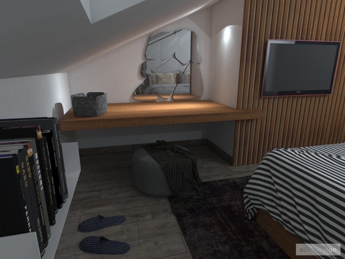 Luxusní ložnice,designová ložnice, design badroom,ložnice mezonet, loftové bydlení_09