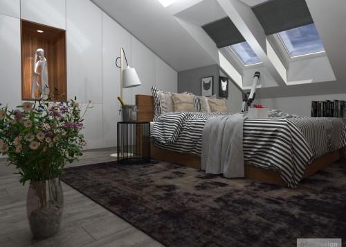 Luxusní ložnice,designová ložnice, design badroom,ložnice mezonet, loftové bydlení_13