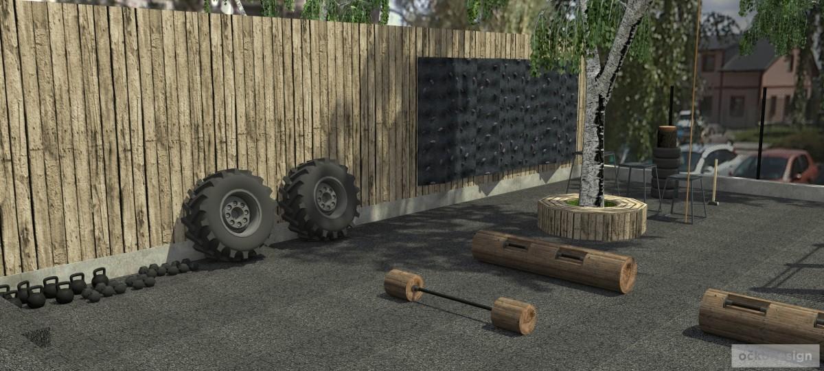 Návrh netradičního exteriérové sportoviště , trx, workout crossfit