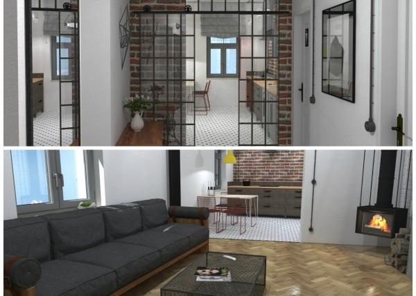 industry interior, industriální interiéry, jak rekonstruovat byt, ockodesign, moderní interiér