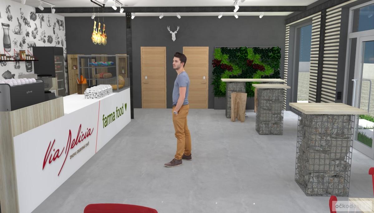 Návrhy prodejních prostor, Návrhy kanceláří, Netradiční komerční interiéry, návrhy prodejen penzionů hotelů, očkodesign Petr Molek designer