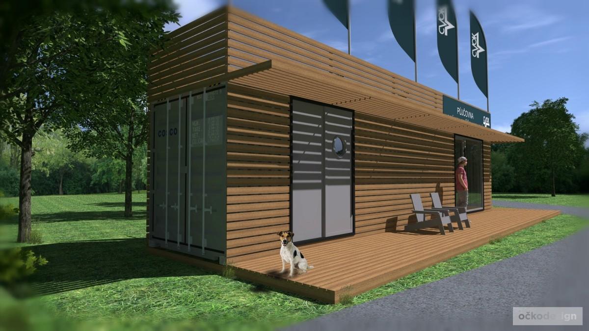 Container houses, kontejnerový dům, půjčovna kol olomouc, architektura, kontejner dům