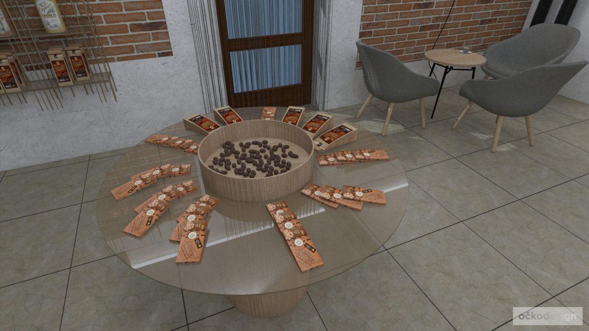 Showroom produktů rodinné čokoládovny v Troubelicích